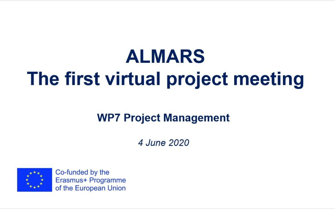 The first virtual meeting for ALMARS project